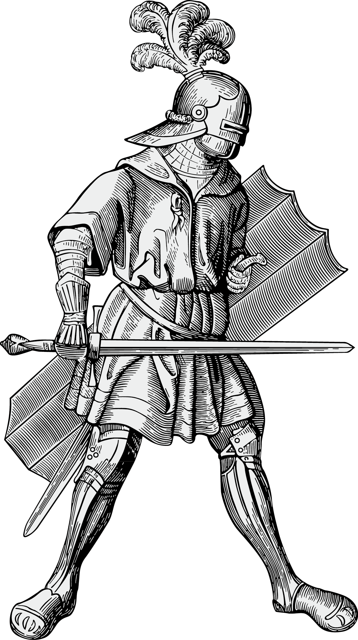 Knights vector warrior. Knight heraldry middle ages