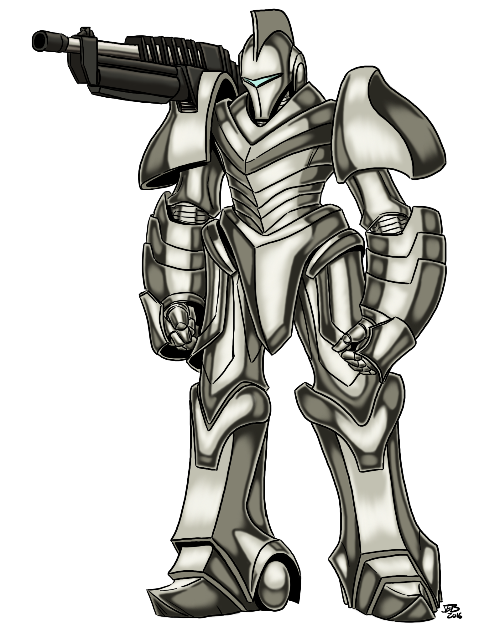 Fighter drawing armor. Manticore by prodigyduck on