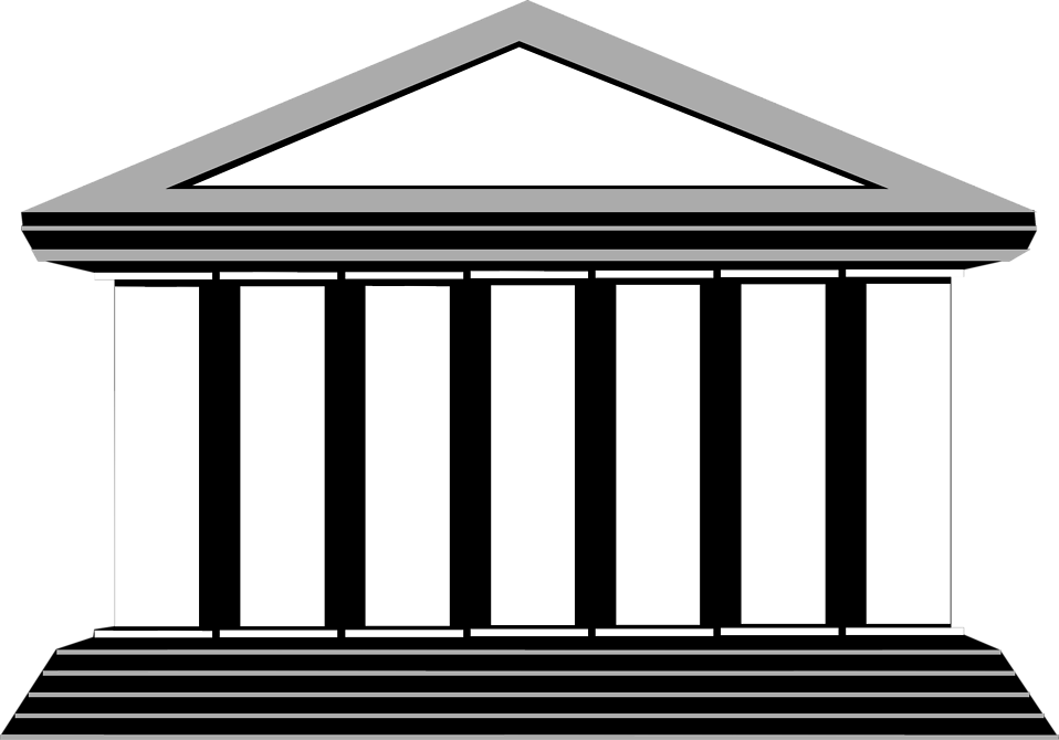 column transparent athens. Building clipart architectural clip black and white stock