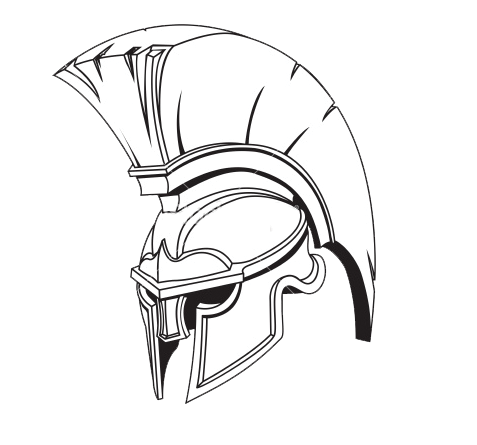 Ares vector spartan helmet side. Own hoplite which is