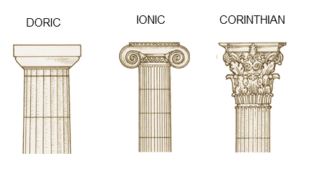 Pillar transparent ionic. Difference between greek and