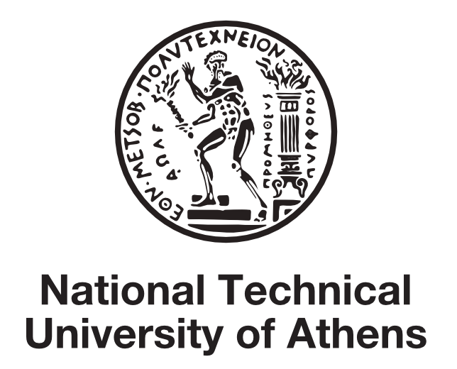 Athens drawing greece logo. National technical university of