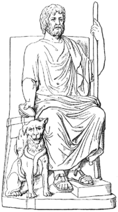 Athens drawing hades. Wikipedia and cerberus in
