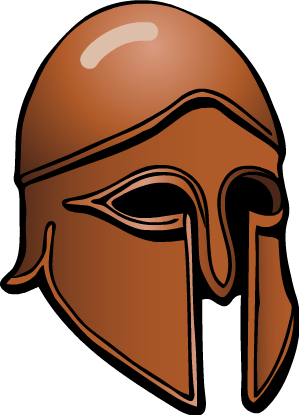 Athens drawing roman helmet. Collection of free hermae