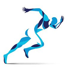 Athletic clipart movement. Athlete running athlet royalty