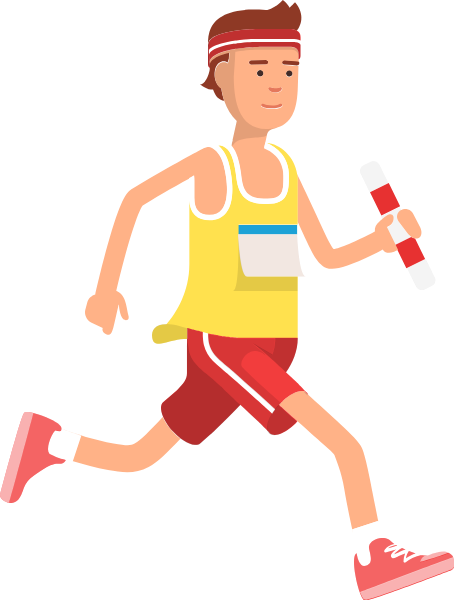 Athlete vector human running. Free online male characters