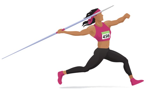 Athlete clipart runnng. Women s javelin the