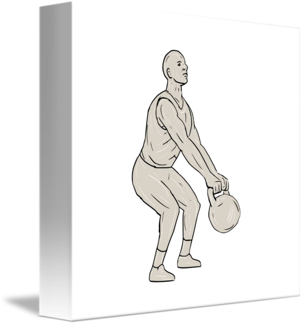 athlete drawing fitness