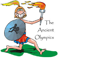 Athlete drawing greek god. The ancient olympics screen