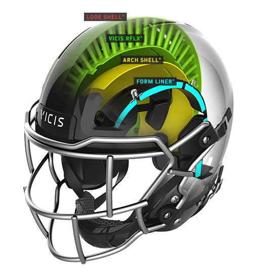 Athlete drawing helmet. Zero vicis engineers and