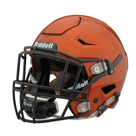 Athlete drawing helmet. Riddell speedflex helmets on