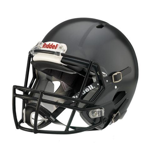 Athlete drawing helmet. Riddell victor youth