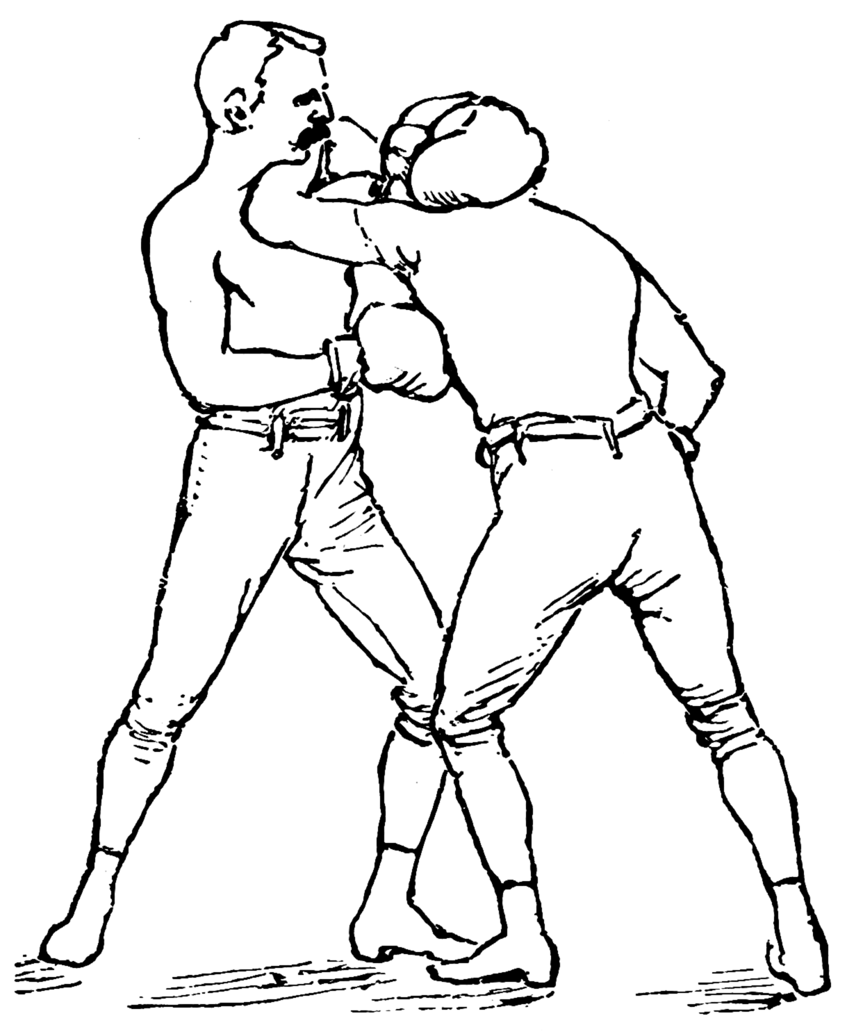 Athlete drawing male person. Athletics and manly sport