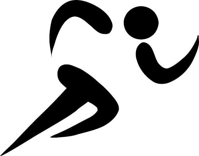 Athlete drawing runner. Free image on pixabay