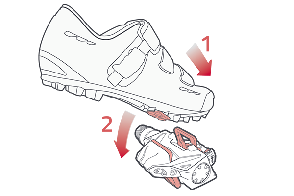 Athlete drawing simple. Time atac xc pedals