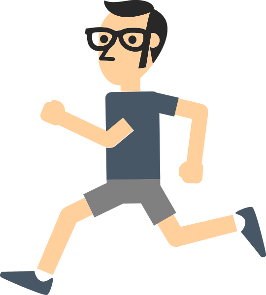 Athlete vector. Free online running male