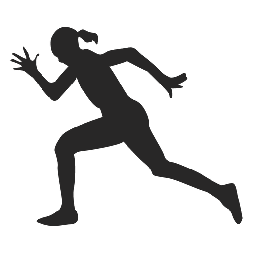 Athlete vector. Running fast transparent png image black and white