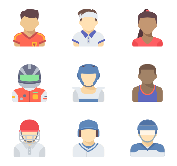 Athlete vector cartoon. Icons free page sport