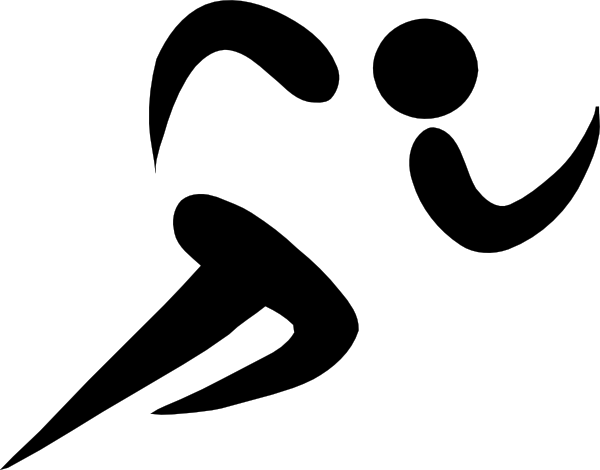 Athlete vector clipart black and white. Olympic sports athletics pictogram