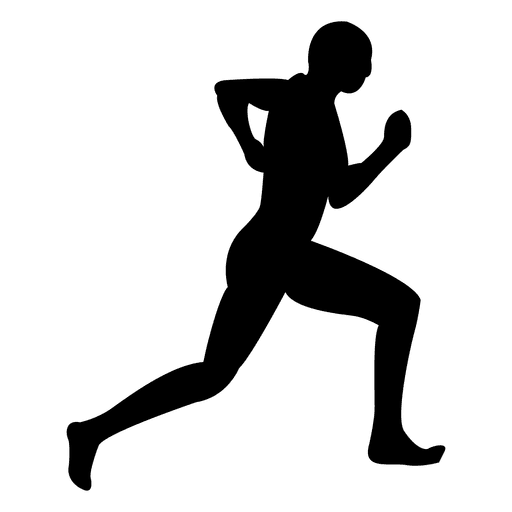 Athlete vector fit man. Jogging sequence transparent png