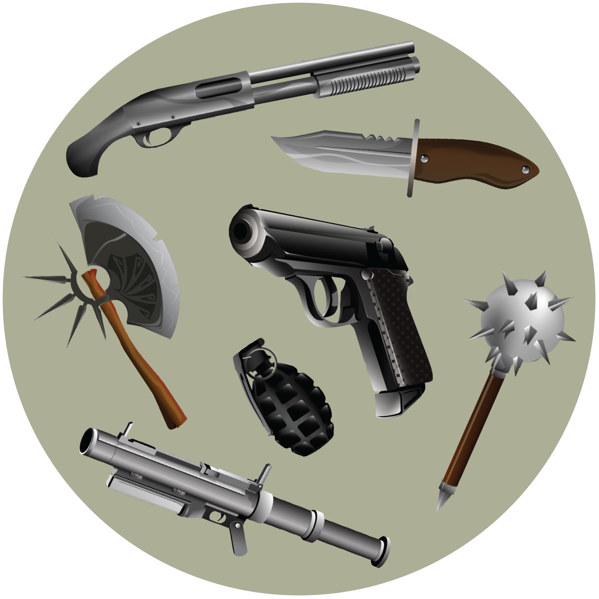 Symetrical drawing weapon. Vector weapons objects pinterest