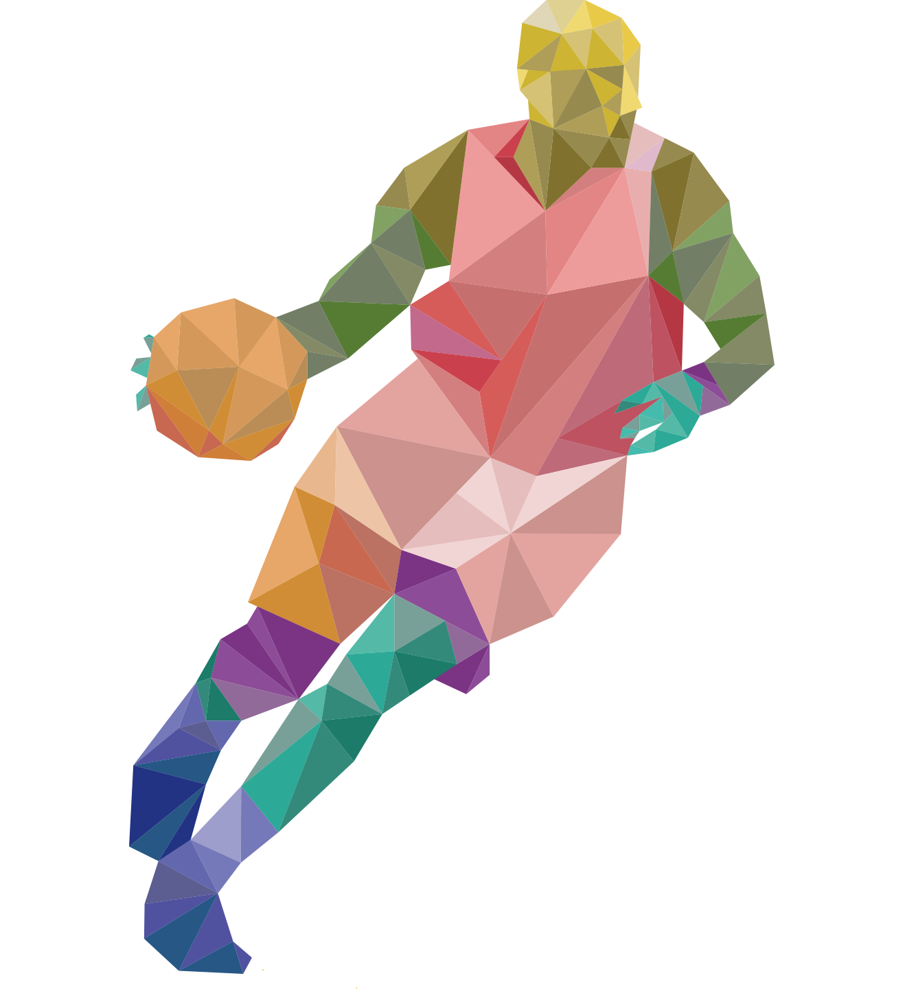athlete vector geometric