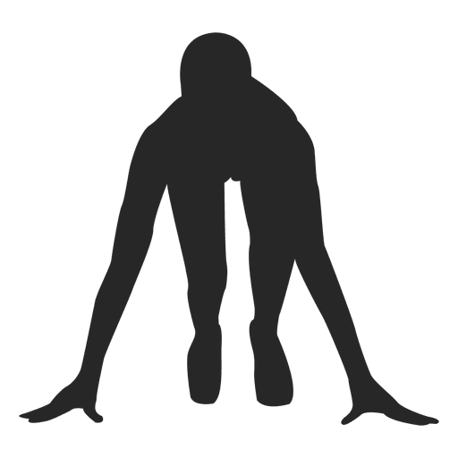 Athlete vector human running. On mark transparent png