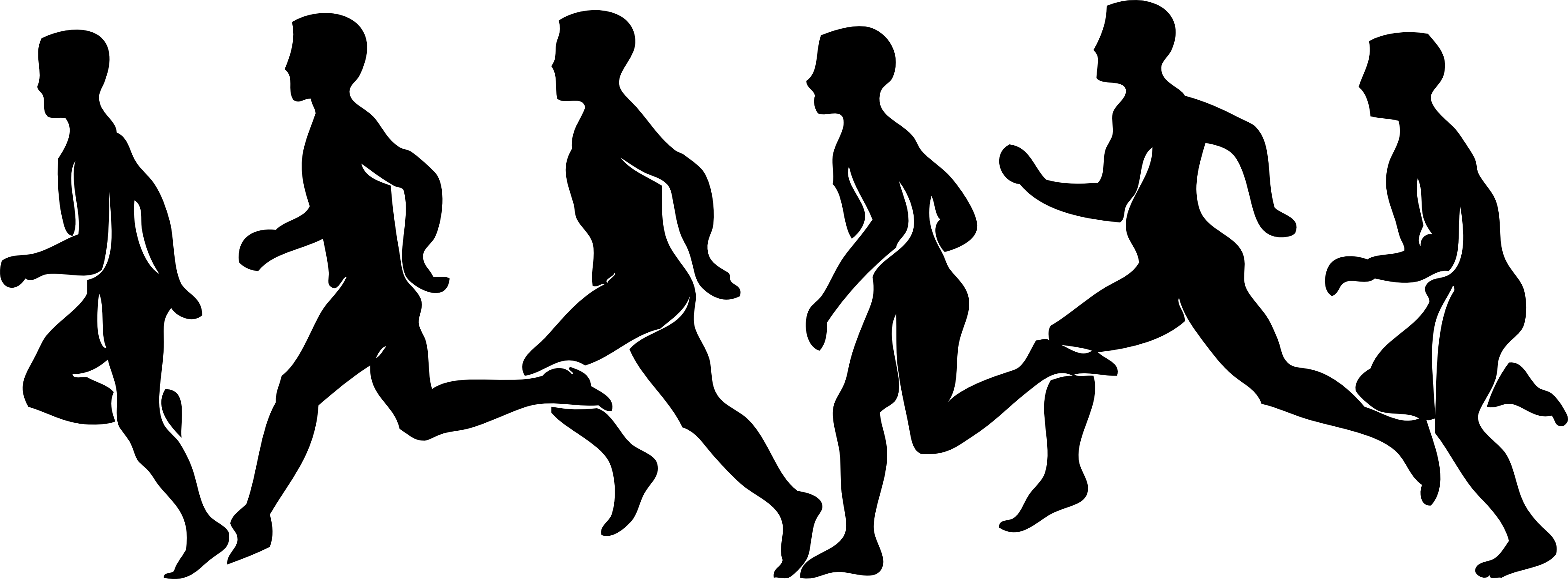 Athlete vector marathon. Collection of running