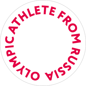 Athlete vector olympic. From russia logo svg