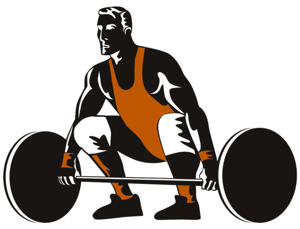 Athlete vector power lifter