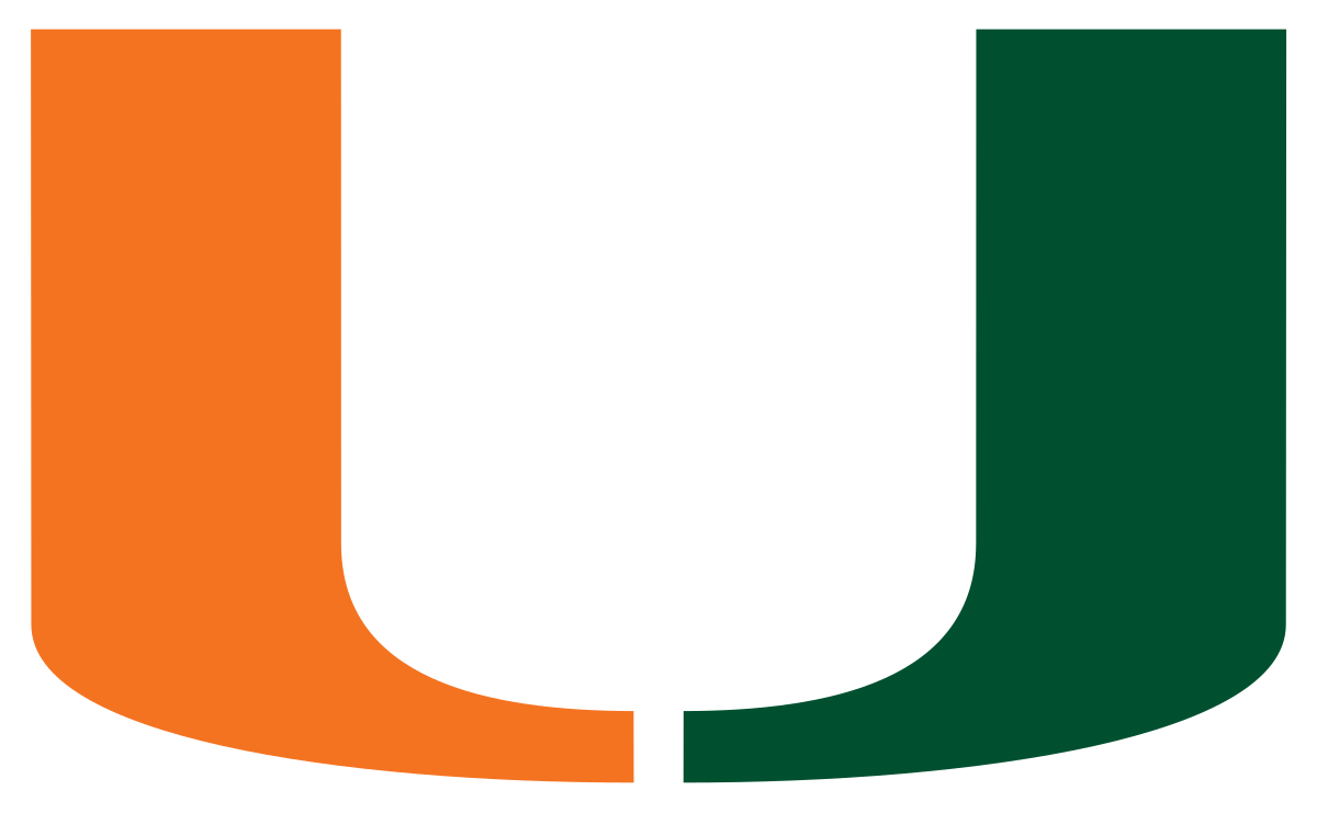 Athlete vector sports day. University of miami hurricanes