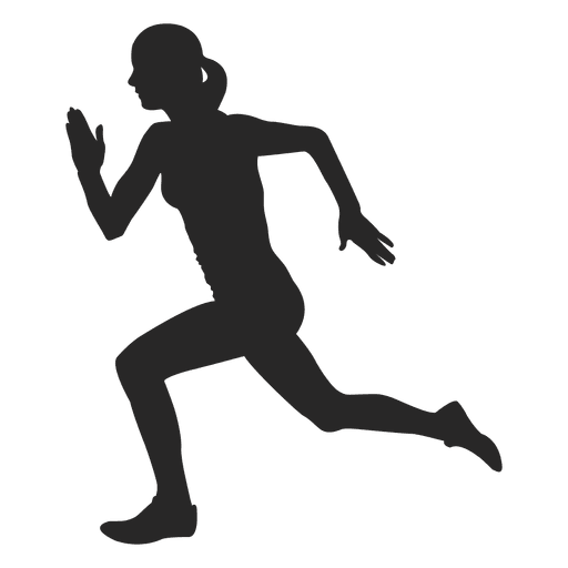 Athlete vector sprinting. Graphics to download female
