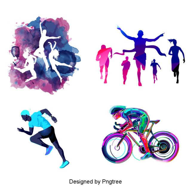 Cartoon sports fitness exercise. Athlete vector free
