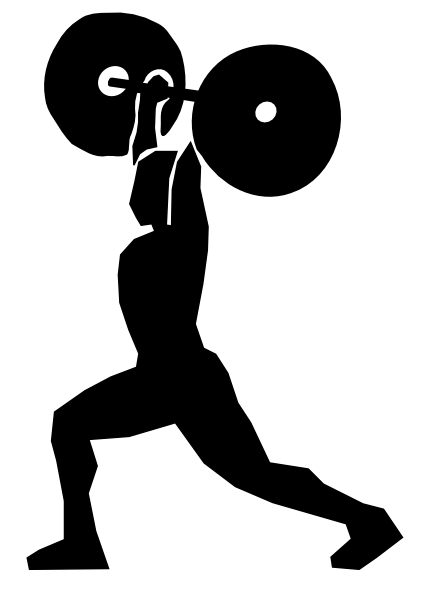 weightlifter drawing overhead squat