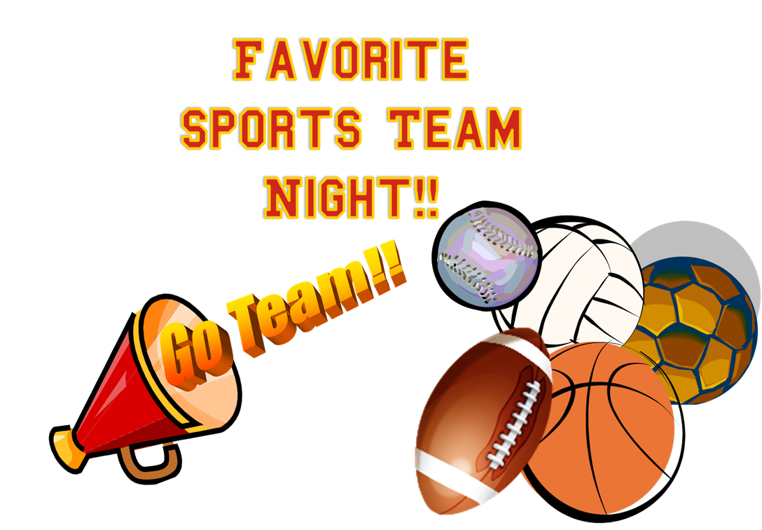 Athletic clipart favorite sport. Sports team clip art
