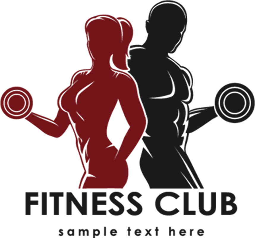Gym clipart youth club. Sports fitness men and
