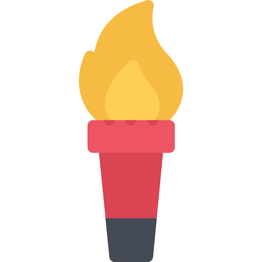 Athletic clipart torch. Multicolor sport png icons