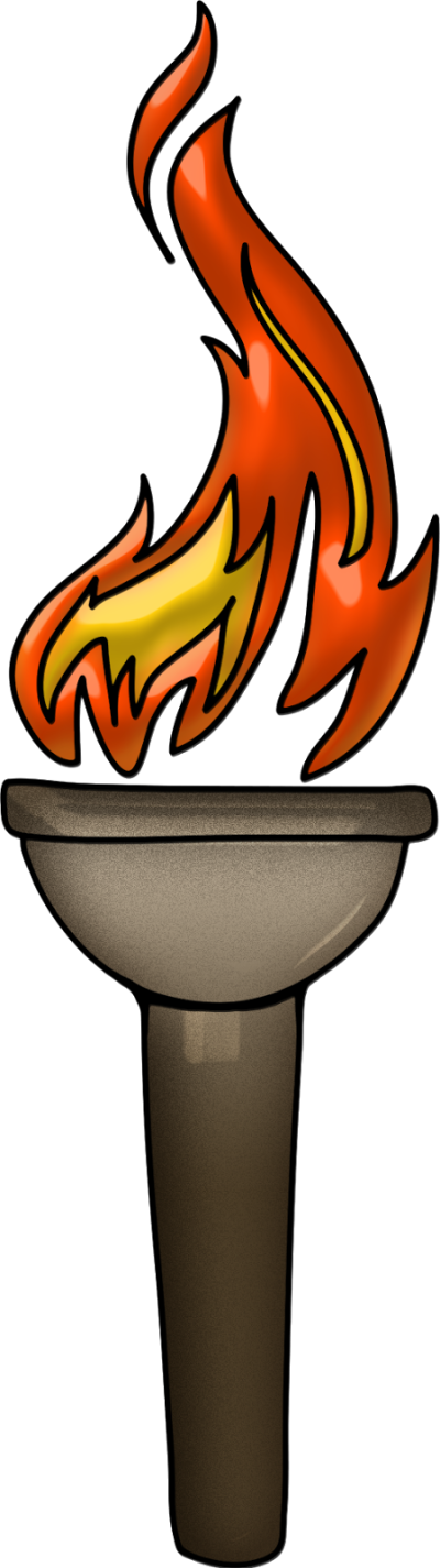 Athletic clipart torch. Using png dlpng pass