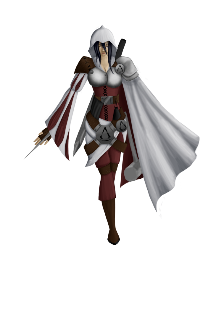 Costume drawing assassin. Assassins creed girl by