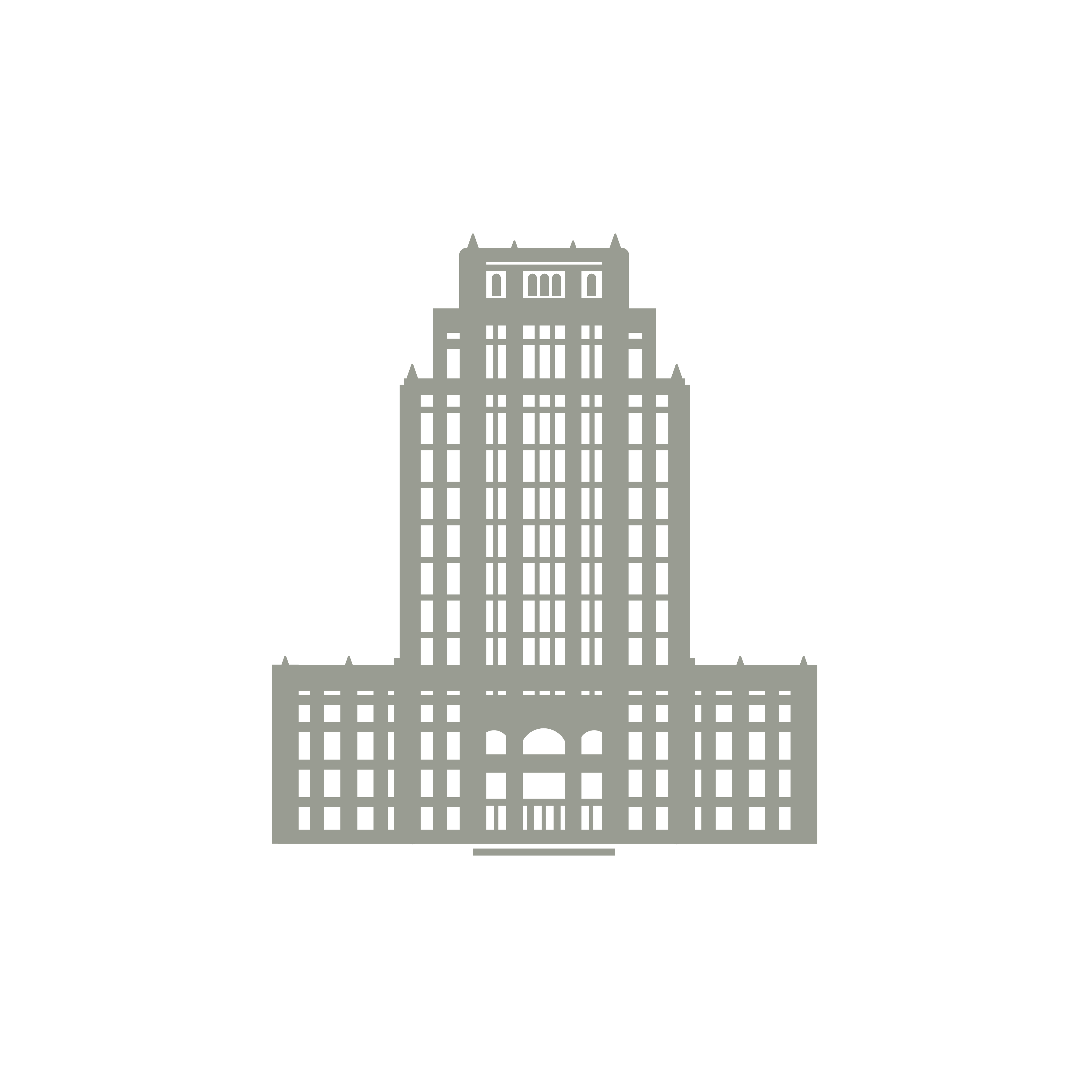 Vector buildings minimalist. Simple city building illustrations