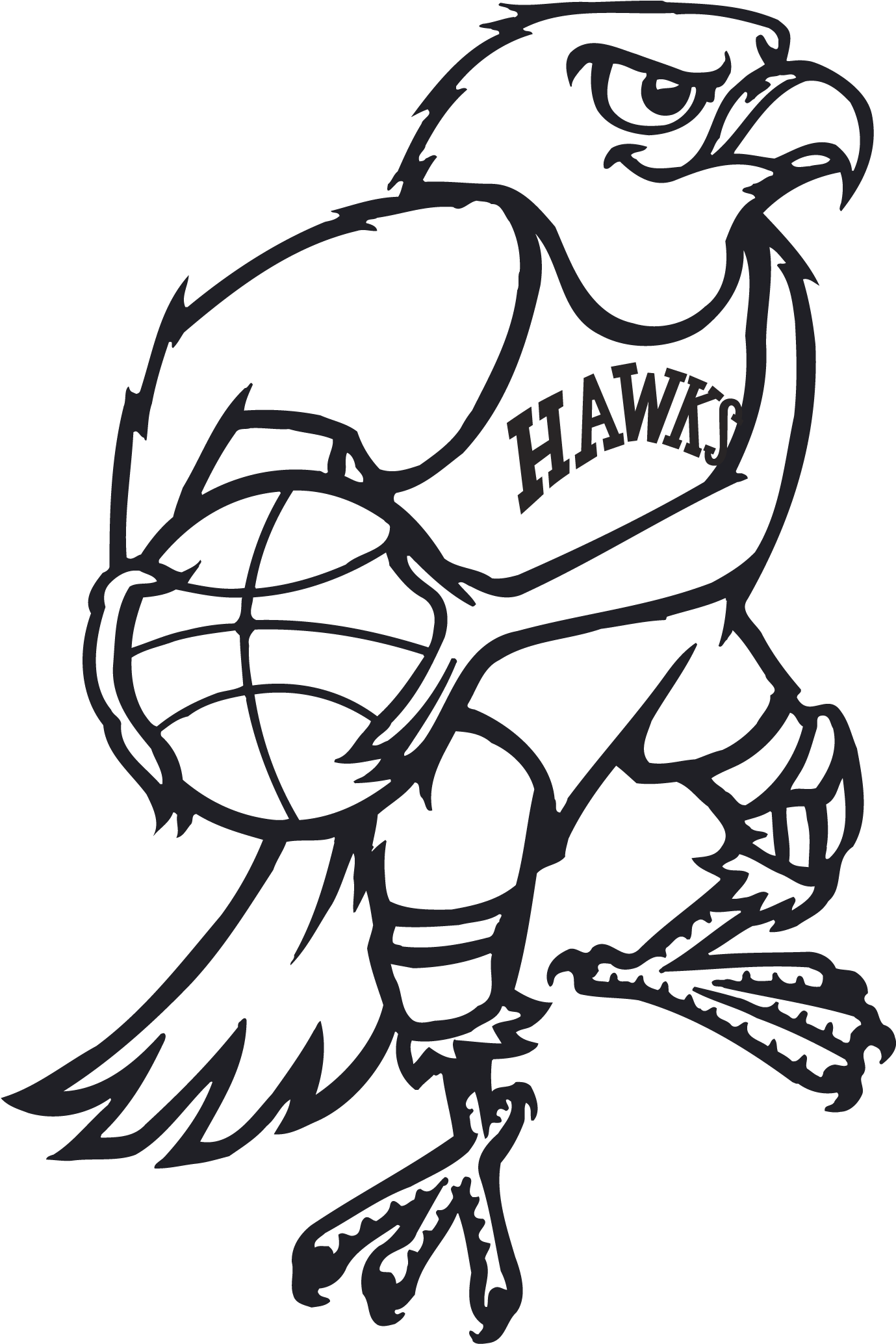 Nba drawing logo. Download old atlanta hawks