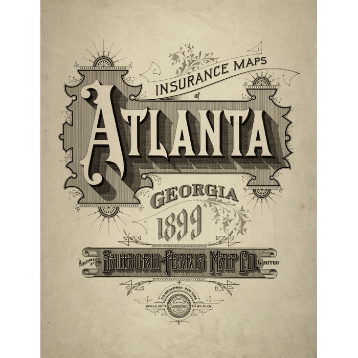 Ga in vintage lettering. Atlanta drawing pen vector royalty free stock