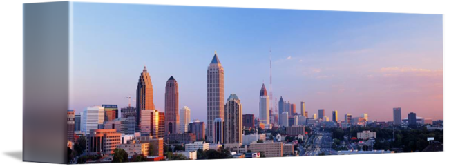 Twilight atlanta ga by. Panorama drawing skyline florence image transparent library