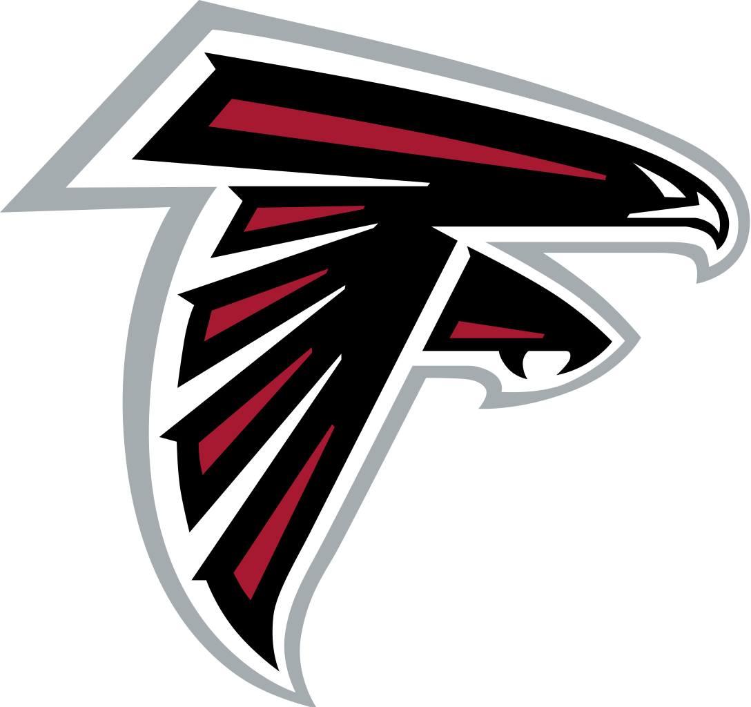 Falcons logo transparent png. Atlanta drawing emblem graphic black and white
