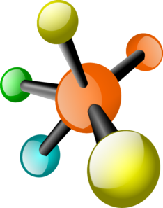 Chemistry clip chemical structure. Atoms and elements clipart