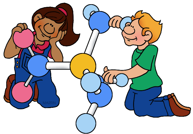 Chemistry clip element. Atom clipart art library