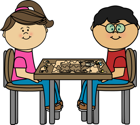 sharing clipart puzzle