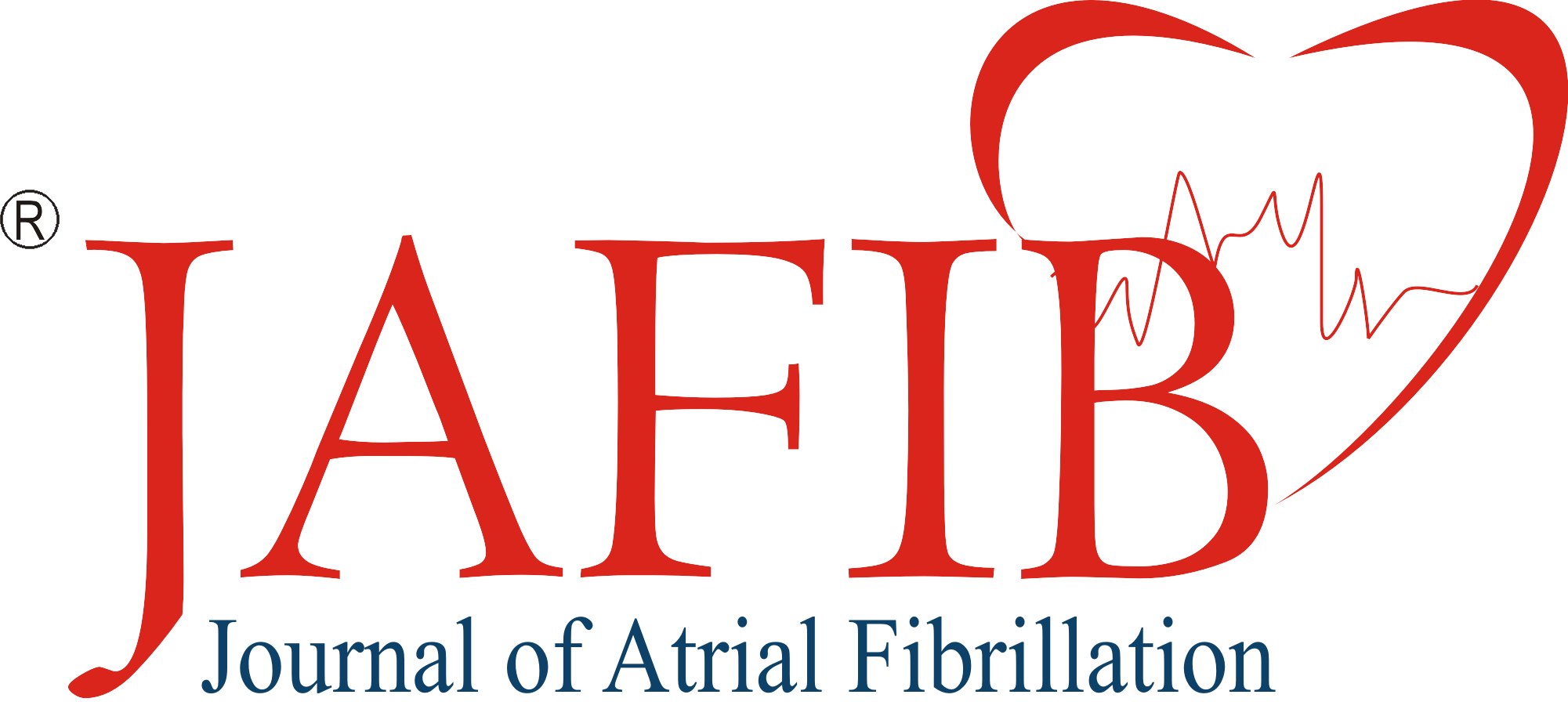 Atrial clip fibrillation. Jafib journal of logo