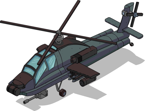 Attack helicopter png. Image menu the simpsons