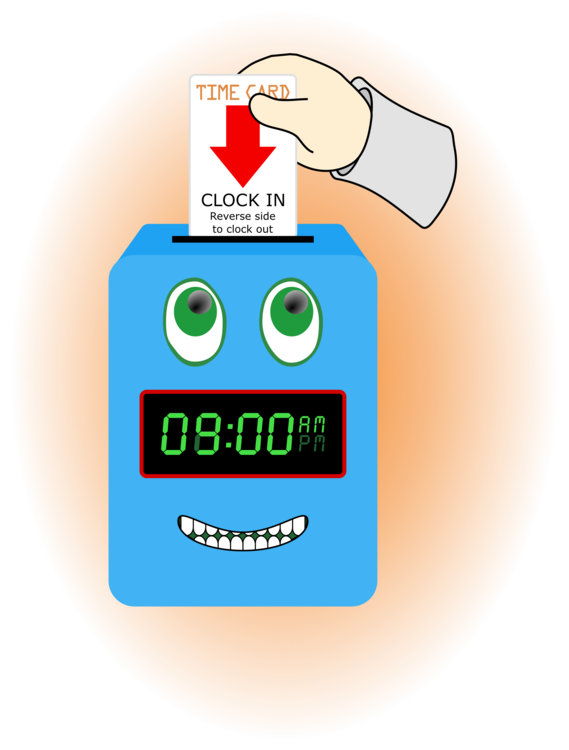 Alarm clipart happy. Time attendance clocks and